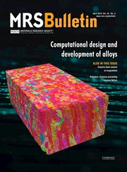 MRS Bulletin Volume 44 - Issue 4 -  Computational design and development of alloys