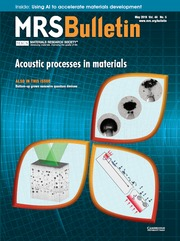MRS Bulletin Volume 44 - Issue 5 -  Acoustic Processes in Materials