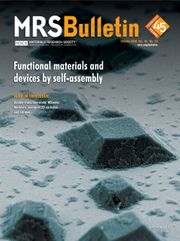 MRS Bulletin Volume 45 - Issue 10 -  Functional Materials and Devices by Self-Assembly