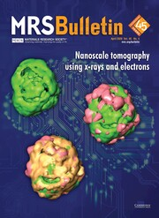 MRS Bulletin Volume 45 - Issue 4 -  Nanoscale Tomography Using X-rays and Electrons