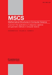 Mathematical Structures in Computer Science