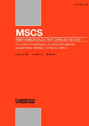 Mathematical Structures in Computer Science Volume 17 - Issue 4 -