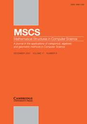 Mathematical Structures in Computer Science Volume 17 - Issue 6 -
