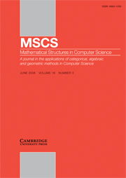 Mathematical Structures in Computer Science Volume 18 - Issue 3 -