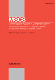 Mathematical Structures in Computer Science Volume 19 - Issue 1 -  Theory and Applications of Models of Computation (TAMC)