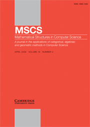 Mathematical Structures in Computer Science Volume 19 - Issue 2 -