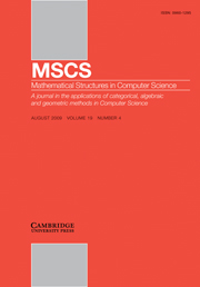 Mathematical Structures in Computer Science Volume 19 - Issue 4 -
