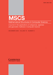 Mathematical Structures in Computer Science Volume 19 - Issue 6 -  Dedicated to Nadia Busi