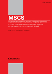 Mathematical Structures in Computer Science Volume 21 - Issue 3 -