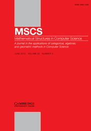 Mathematical Structures in Computer Science Volume 22 - Issue 3 -