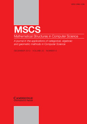 Mathematical Structures in Computer Science Volume 22 - Issue 6 -  CAMCAD '09 Commutativity of Algebraic Diagrams