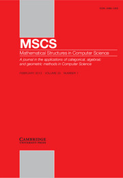 Mathematical Structures in Computer Science Volume 23 - Issue 1 -