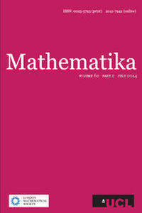 Mathematika Volume 60 - Issue 2 -