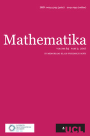 Mathematika Volume 63 - Issue 3 -