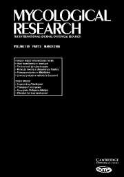 Mycological Research Volume 109 - Issue 3 -