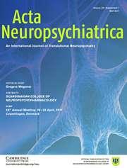 Image result for acta neuropsychiatrica