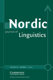 Nordic Journal of Linguistics