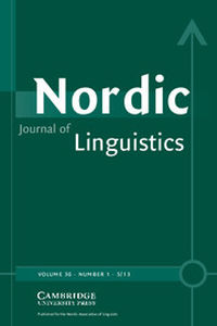 Nordic Journal of Linguistics Volume 36 - Issue 1 -