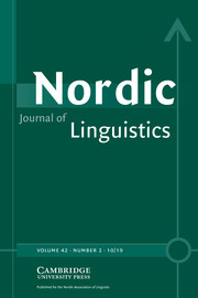 Nordic Journal of Linguistics Volume 42 - Issue 2 -