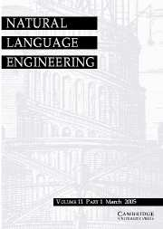 Natural Language Engineering Volume 11 - Issue 1 -