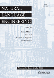 Natural Language Engineering Volume 14 - Issue 3 -