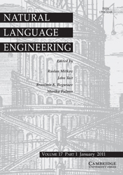 Natural Language Engineering Volume 17 - Issue 1 -