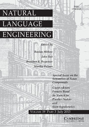 Natural Language Engineering Volume 19 - Issue 3 -  On the semantics of noun compounds