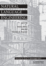 Natural Language Engineering Volume 23 - Issue 5 -