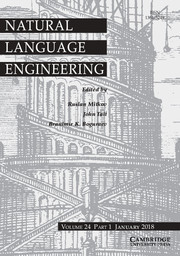 Natural Language Engineering Volume 24 - Issue 1 -