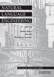 Natural Language Engineering Volume 24 - Issue 4 -