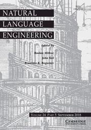 Natural Language Engineering Volume 24 - Issue 5 -