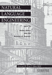 Natural Language Engineering Volume 25 - Issue 3 -