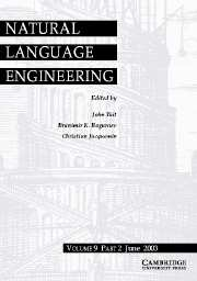 Natural Language Engineering Volume 9 - Issue 2 -