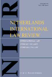 Netherlands International Law Review Volume 54 - Issue 2 -