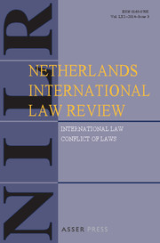 Netherlands International Law Review Volume 61 - Issue 3 -