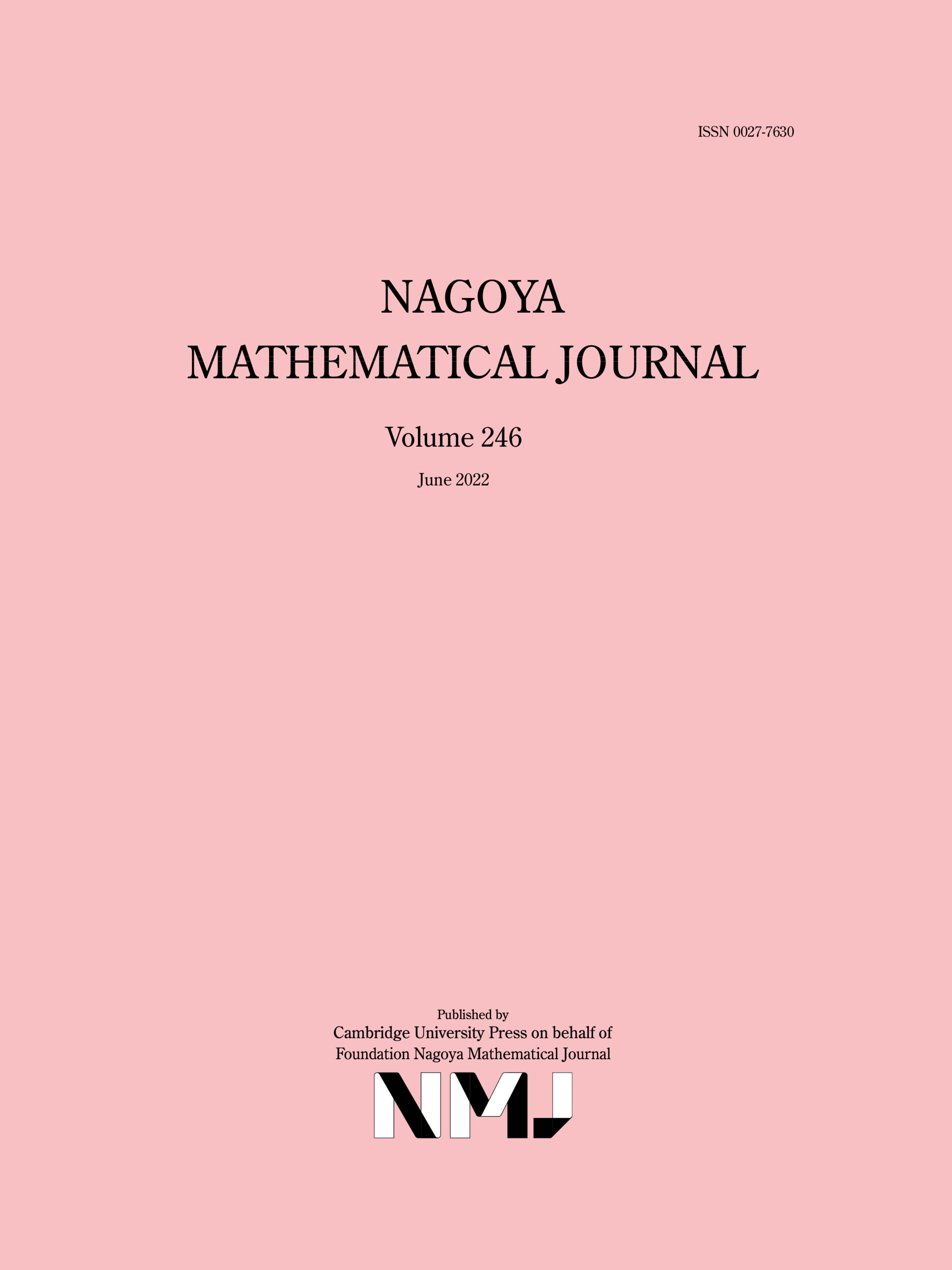 Nagoya Mathematical Journal | Cambridge Core