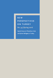 New Perspectives on Turkey Volume 54 - Issue  -