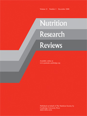 Nutrition Research Reviews Volume 21 - Issue 2 -