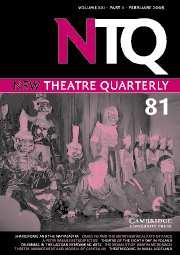 New Theatre Quarterly Volume 21 - Issue 1 -