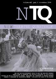 New Theatre Quarterly Volume 22 - Issue 4 -