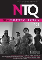 New Theatre Quarterly Volume 27 - Issue 1 -