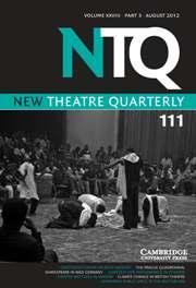 New Theatre Quarterly Volume 28 - Issue 3 -