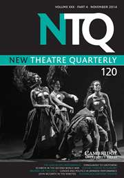 New Theatre Quarterly Volume 30 - Issue 4 -