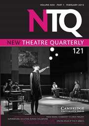 New Theatre Quarterly Volume 31 - Issue 1 -