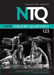 New Theatre Quarterly Volume 31 - Issue 3 -