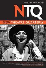 New Theatre Quarterly Volume 32 - Issue 2 -