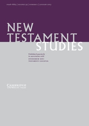 New Testament Studies Volume 59 - Issue 1 -