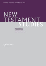 New Testament Studies Volume 59 - Issue 3 -