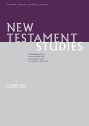New Testament Studies Volume 61 - Issue 3 -