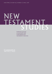 New Testament Studies Volume 64 - Issue 2 -